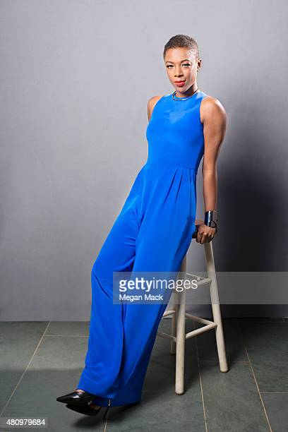 Actress Samira Wiley poses for a portrait at the Logo TV's 'Trailblazers' at the Cathedral of St John the Divine on June 25 2015 in New York City