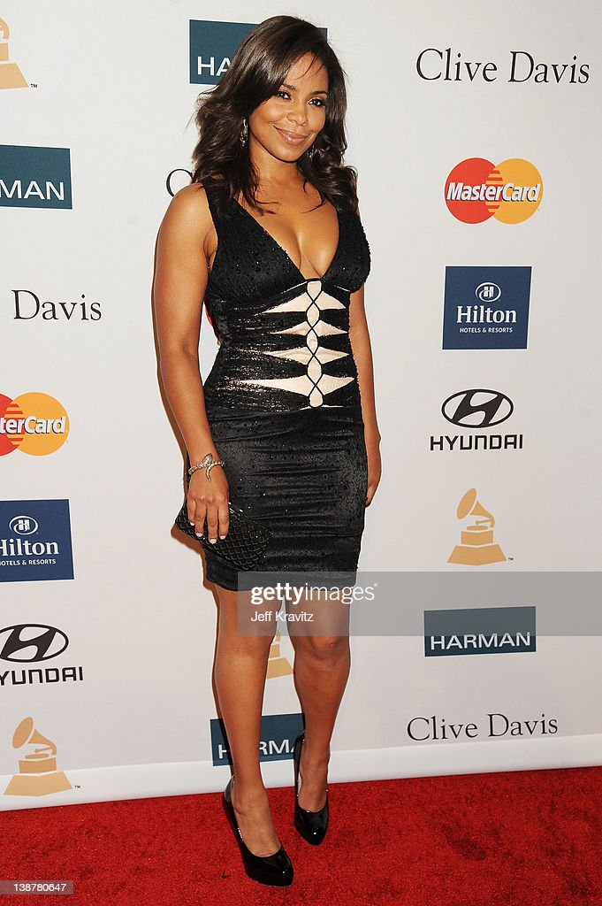 Actress Sanaa Lathan arrives at Clive Davis and the Recording Academy's 2012 Pre-GRAMMY Gala and Salute to Industry Icons Honoring Richard Branson held at The Beverly Hilton Hotel on February 11, 2012 in Beverly Hills, California.