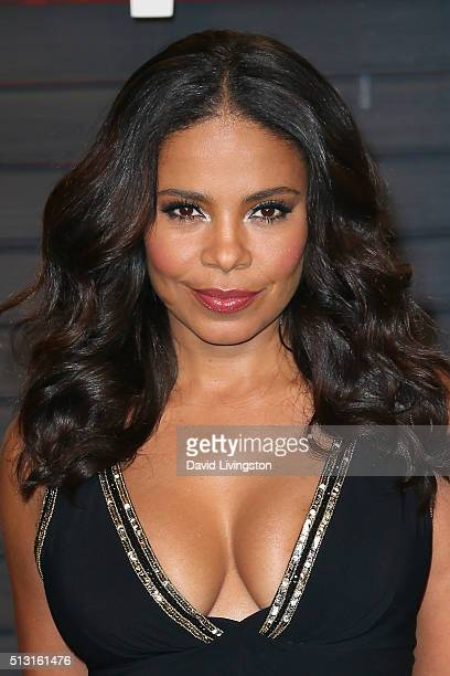 Actress Sanaa Lathan arrives at the 2016 Vanity Fair Oscar Party Hosted by Graydon Carter at the Wallis Annenberg Center for the Performing Arts on...