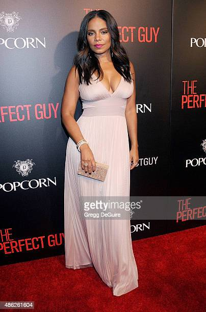 Actress Sanaa Lathan arrives at the premiere of Screen Gems' 'The Perfect Guy' at The WGA Theater on September 2 2015 in Beverly Hills California