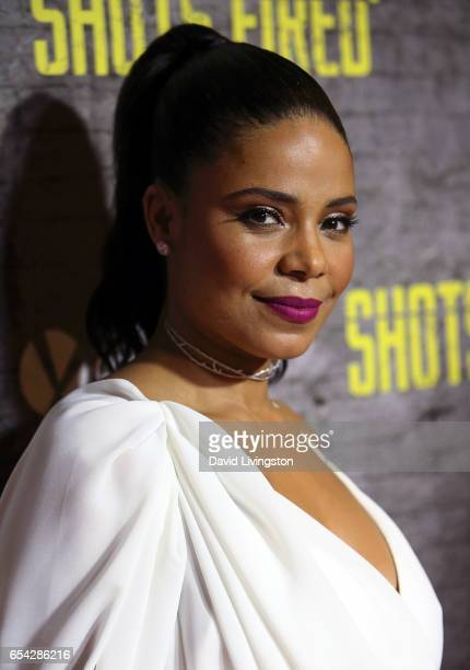 Actress Sanaa Lathan attends a screening and discussion of FOX's 'Shots Fired' at Pacific Design Center on March 16 2017 in West Hollywood California