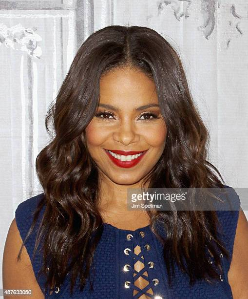 Actress Sanaa Lathan attends the AOL BUILD Speaker Series 'The Perfect Guy' at AOL Studios in New York on September 10 2015 in New York City