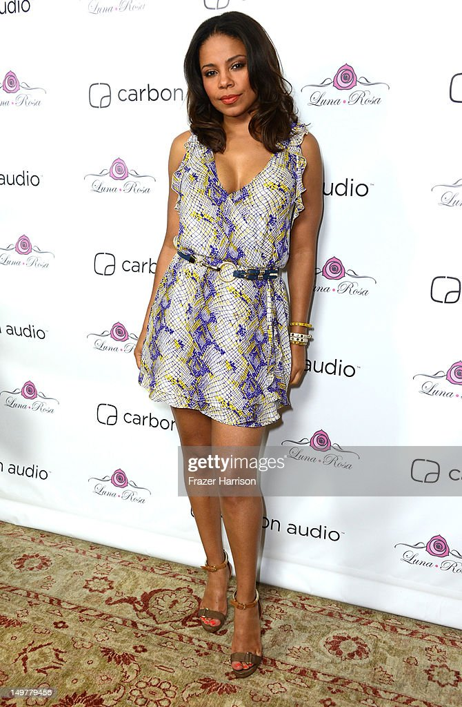 Actress Sanaa Lathan attends the Carbon Audio's Zooka Launch Party on August 3, 2012 in West Hollywood, California.