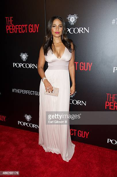 Actress Sanaa Lathan attends the Premiere of Screen Gems' 'The Perfect Guy' at The WGA Theater on September 2 2015 in Beverly Hills California