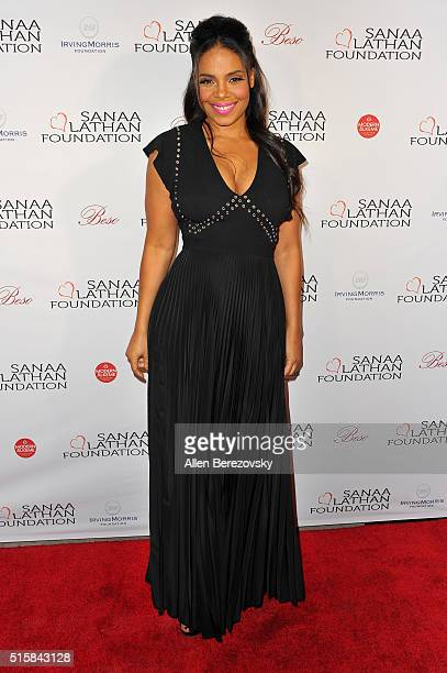 Actress Sanaa Lathan hosts a fundraising event supporting the Sanaa Lathan Foundation at Beso on March 15 2016 in Hollywood California