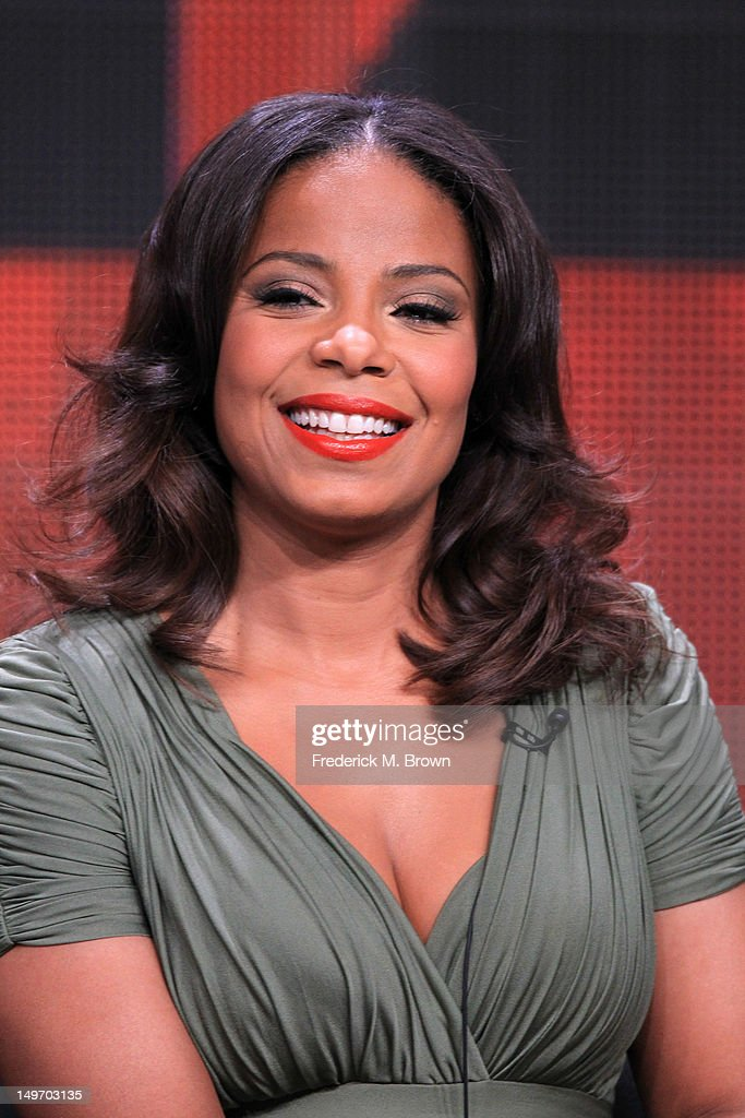 Actress Sanaa Lathan speaks at the 'Boss' discussion panel during the Starz portion of the 2012 Summer Television Critics Association tour at the Beverly Hilton Hotel on August 2, 2012 in Los Angeles, California.