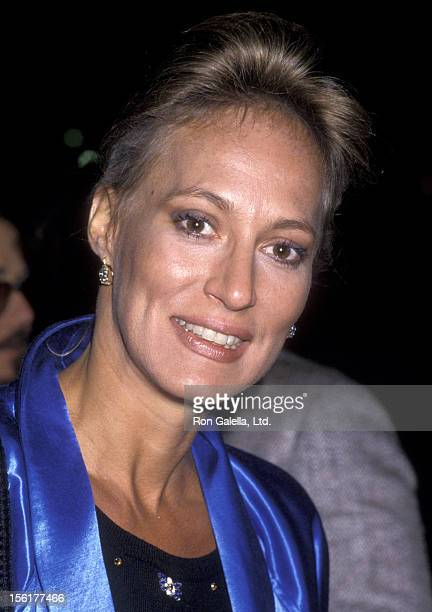 Actress Sandahl Bergman attends NBC TV Affiliates Party on May 12 1985 at the Century Plaza Hotel in Century City California