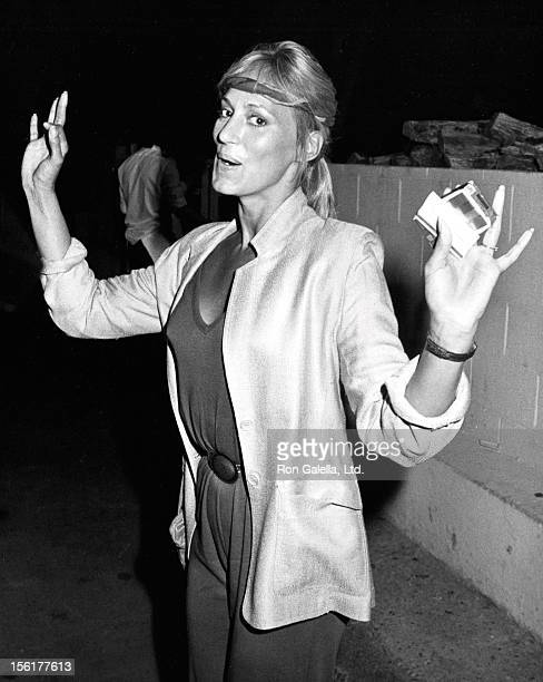 Actress Sandahl Bergman sighted on August 12 1983 at Spago Restaurant in West Hollywood California