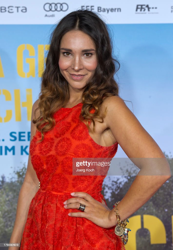 Actress Sandra Ahrabian poses at the 'Da geht noch was' Germany premiere at Mathaeser on September 4, 2013 in Munich, Germany.