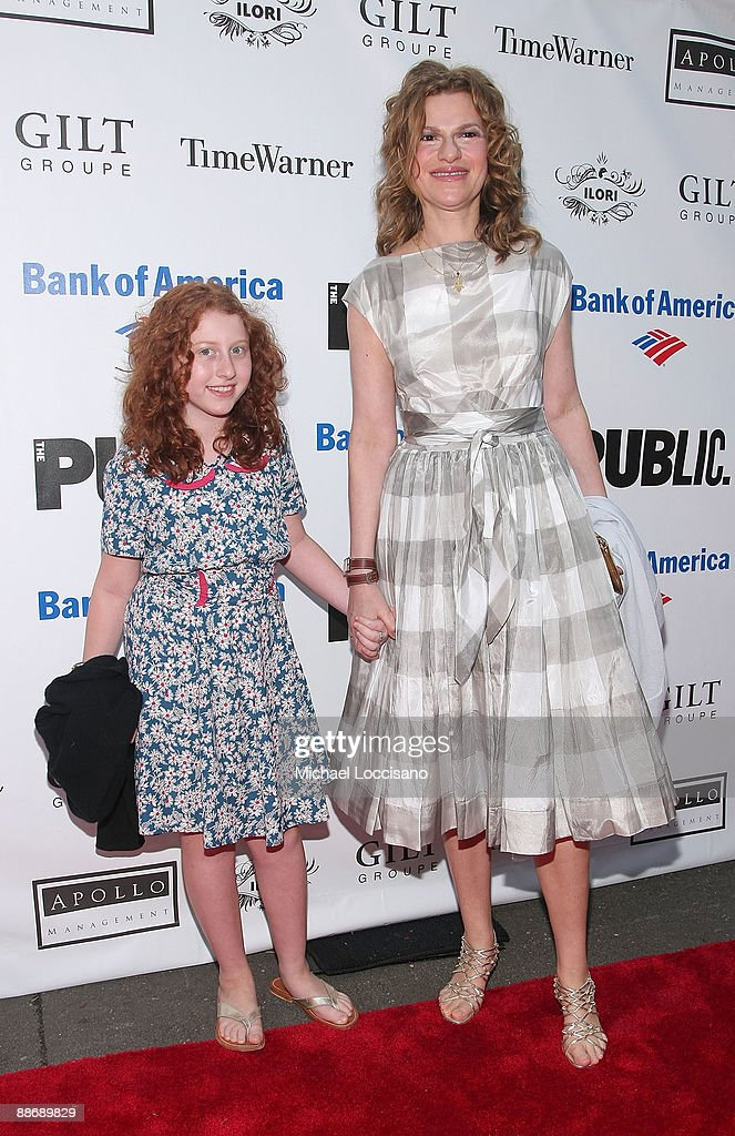 Actress Sandra Bernhard and daughter Cicely Bernhard attend the 2009 Shakespeare in the Park opening night gala performance of 'Twelfth Night' at the Delacorte Theater on June 25, 2009 in New York City.