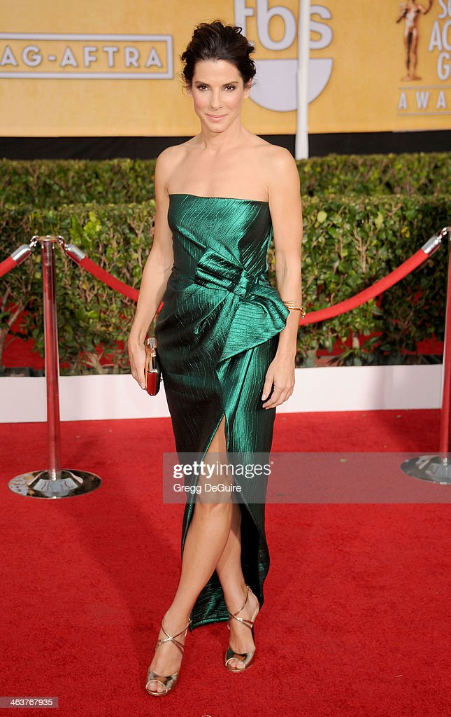 Actress Sandra Bullock arrives at the 20th Annual Screen Actors Guild Awards at The Shrine Auditorium on January 18 2014 in Los Angeles California