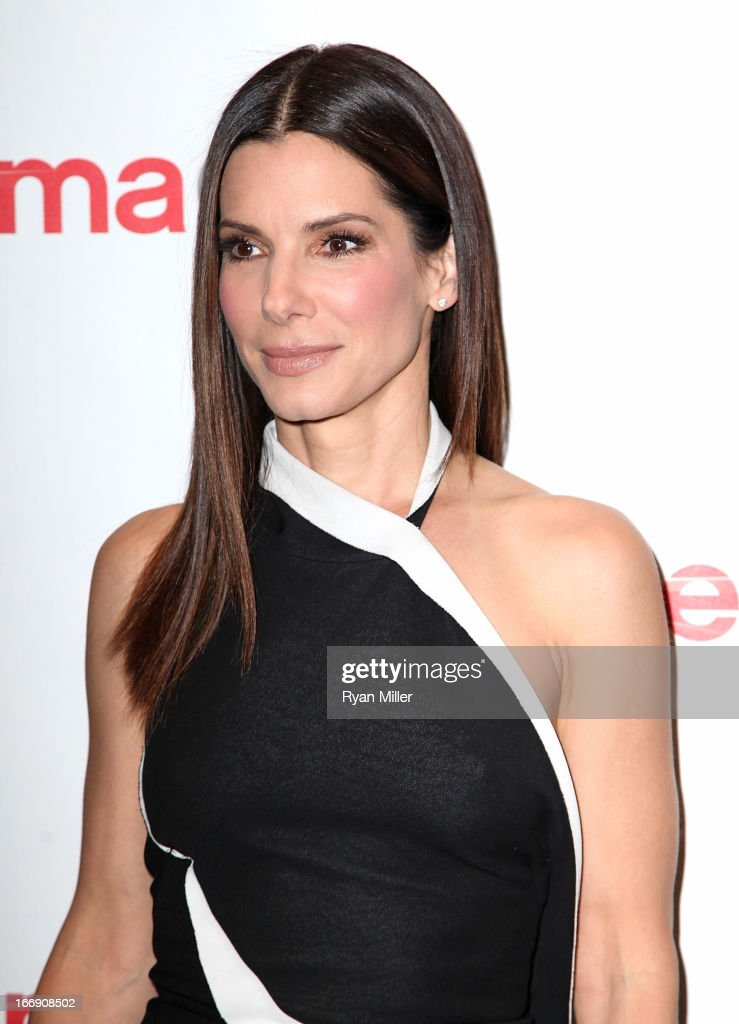 Actress <a gi-track='captionPersonalityLinkClicked' href=/galleries/search?phrase=Sandra+Bullock&family=editorial&specificpeople=202248 ng-click='$event.stopPropagation()'>Sandra Bullock</a> arrives at the 20th Century Fox Cinemacon Press Conference at Caesars Palace during CinemaCon, the official convention of the National Association of Theatre Owners on April 18, 2013 in Las Vegas, Nevada.
