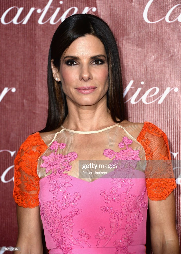 Actress Sandra Bullock arrives at the 25th Annual Palm Springs International Film Festival Awards Gala at Palm Springs Convention Center on January 4, 2014 in Palm Springs, California.