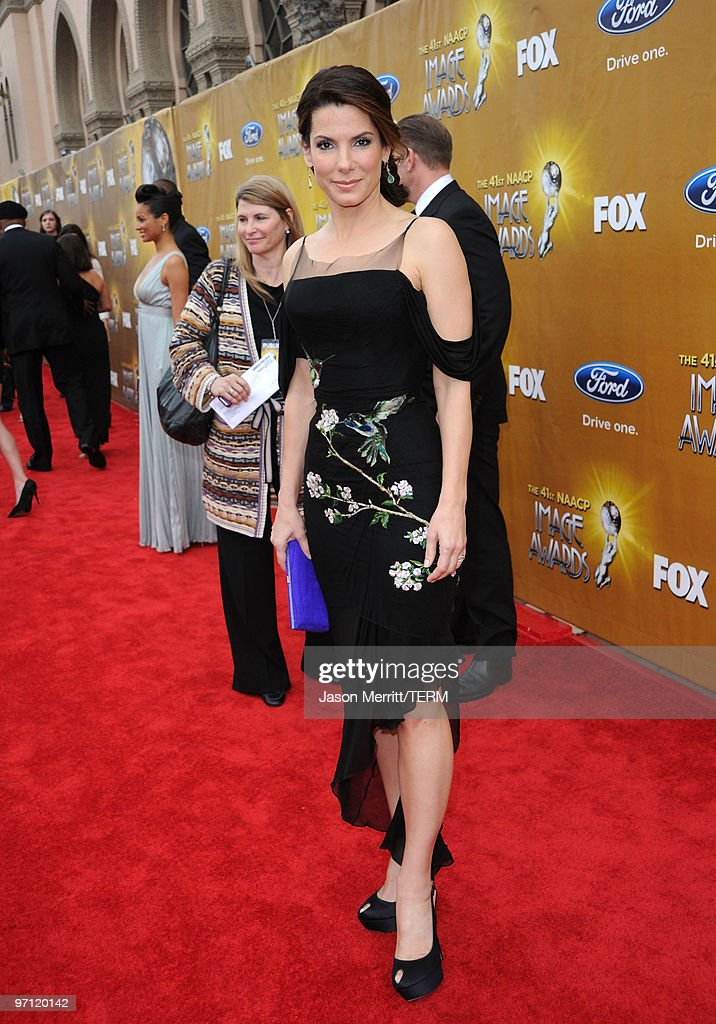 Actress Sandra Bullock arrives at the 41st NAACP Image awards held at The Shrine Auditorium on February 26 2010 in Los Angeles California