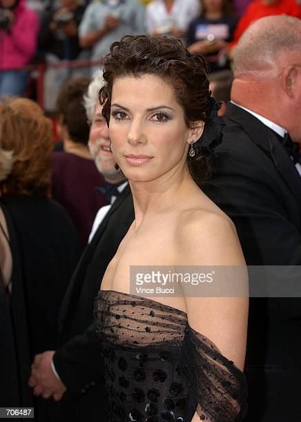 Actress Sandra Bullock arrives at the 74th Annual Academy Awards at The Kodak Theater March 24 2002 in Hollywood CA