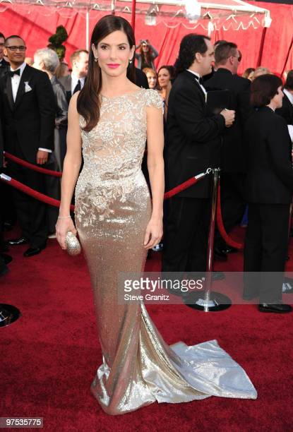 Actress Sandra Bullock arrives at the 82nd Annual Academy Awards held at the Kodak Theatre on March 7 2010 in Hollywood California