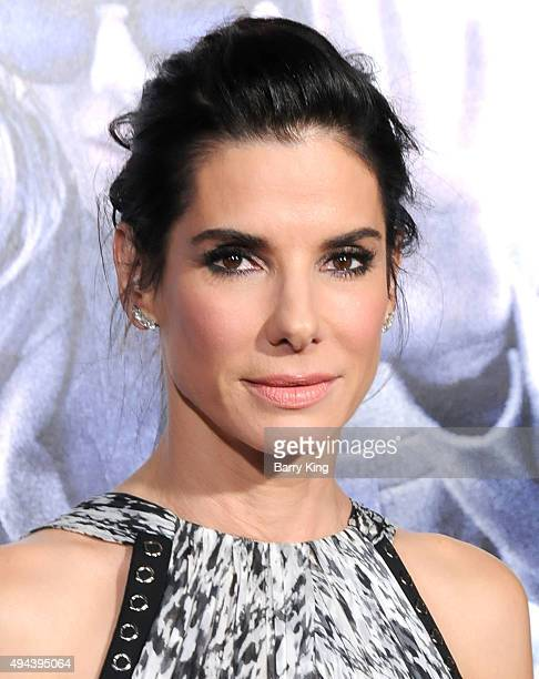 Actress Sandra Bullock arrives at the premiere of Warner Bros Pictures' 'Our Brand Is Crisis' at TCL Chinese Theatre on October 26 2015 in Hollywood...