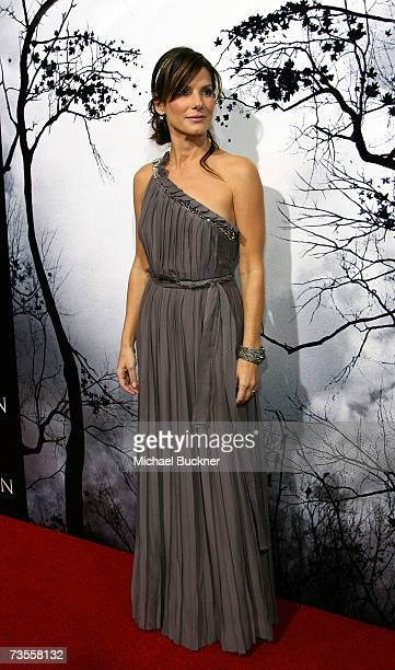 Actress Sandra Bullock arrives to the TriStar premiere of Premonition at the ArcLight Hollywood Cinerama Dome March 12 2007 in Hollywood California
