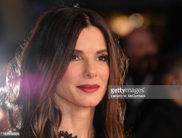 Actress Sandra Bullock attends a screening of 'Gravity' during the 57th BFI London Film Festival at Odeon Leicester Square on October 10 2013 in...