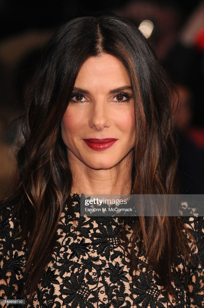 Actress <a gi-track='captionPersonalityLinkClicked' href=/galleries/search?phrase=Sandra+Bullock&family=editorial&specificpeople=202248 ng-click='$event.stopPropagation()'>Sandra Bullock</a> attends a screening of 'Gravity' during the 57th BFI London Film Festival at Odeon Leicester Square on October 10, 2013 in London, England.