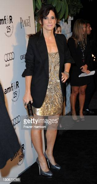 Actress Sandra Bullock attends amfAR's Inspiration Gala at the Chateau Marmont on October 27 2011 in Los Angeles California