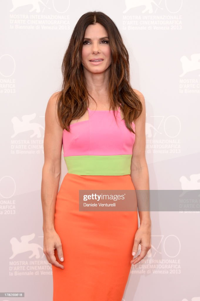 Actress <a gi-track='captionPersonalityLinkClicked' href=/galleries/search?phrase=Sandra+Bullock&family=editorial&specificpeople=202248 ng-click='$event.stopPropagation()'>Sandra Bullock</a> attends 'Gravity' Photocall during the 70th Venice International Film Festival on August 28, 2013 in Venice, Italy.