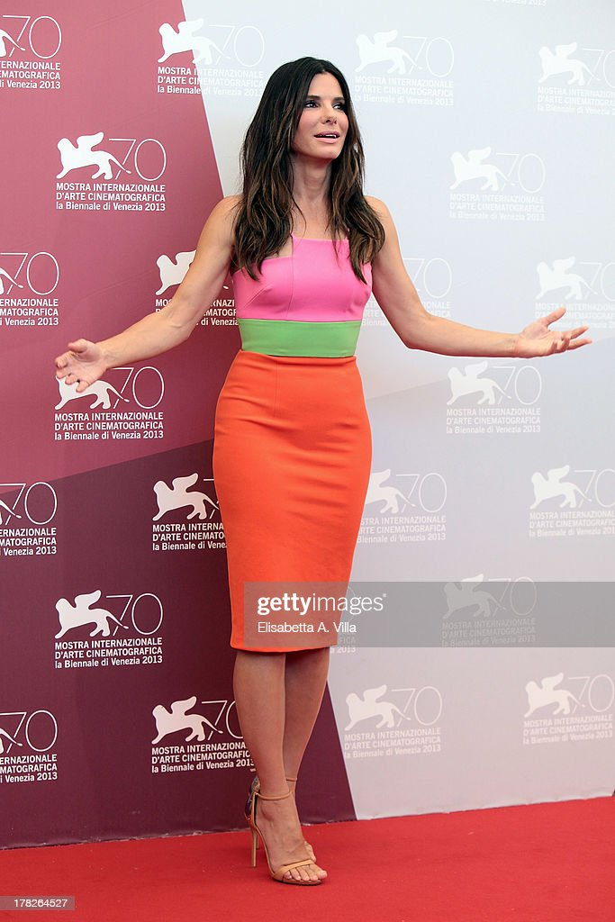 Actress Sandra Bullock attends 'Gravity' Photocall during the 70th Venice International Film Festival at the Casino on August 28, 2013 in Venice, Italy.