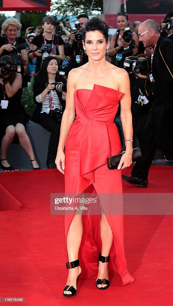 Actress Sandra Bullock attends 'Gravity' Premiere and Opening Ceremony during the 70th Venice International Film Festival at the Palazzo del Cinema on August 28, 2013 in Venice, Italy.