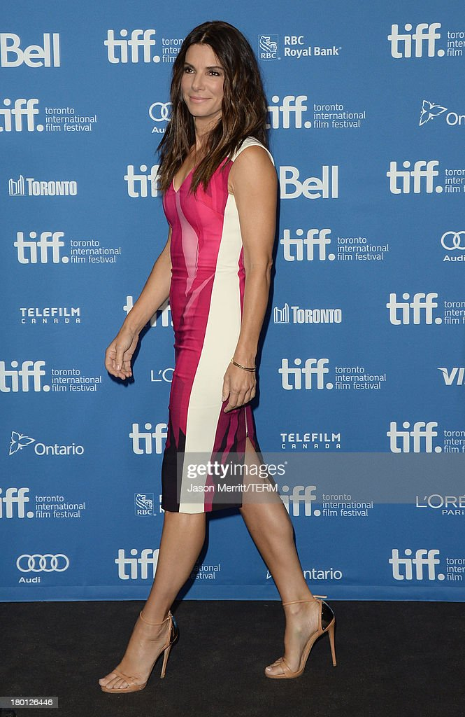 Actress Sandra Bullock attends 'Gravity' Press Conference during the 2013 Toronto International Film Festival at TIFF Bell Lightbox on September 9, 2013 in Toronto, Canada.