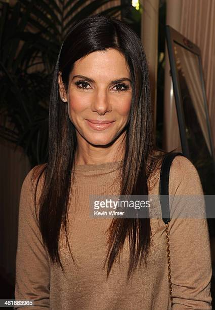 Actress Sandra Bullock attends the 14th annual AFI Awards Luncheon at the Four Seasons Hotel Beverly Hills on January 10 2014 in Beverly Hills...