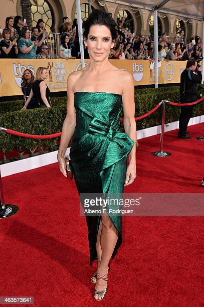 Actress Sandra Bullock attends the 20th Annual Screen Actors Guild Awards at The Shrine Auditorium on January 18 2014 in Los Angeles California