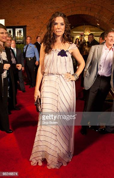 Actress Sandra Bullock attends 'The Blind Side' benefit premiere at the Prytania Theatre on November 19 2009 in New Orleans Louisiana