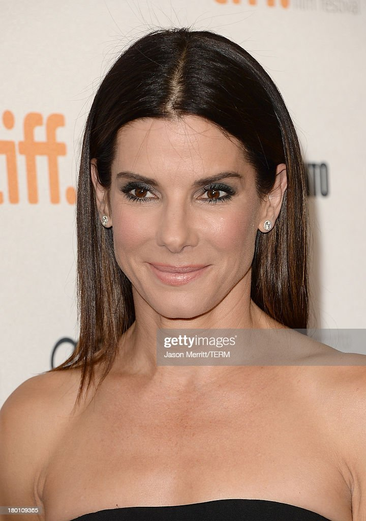 Actress Sandra Bullock attends the 'Gravity' premiere during the 2013 Toronto International Film Festival at Princess of Wales Theatre on September 8, 2013 in Toronto, Canada.