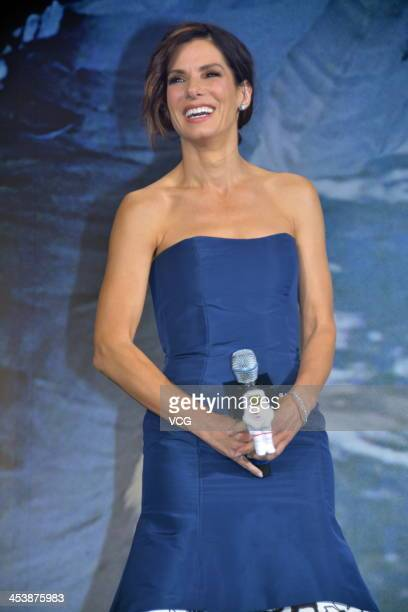 Actress Sandra Bullock attends the 'Gravity' premiere on December 5 2013 in Tokyo Japan