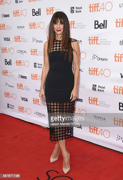 Actress Sandra Bullock attends the 'Our Brand is Crisis' premiere during the 2015 Toronto International Film Festival at the Princess of Wales...