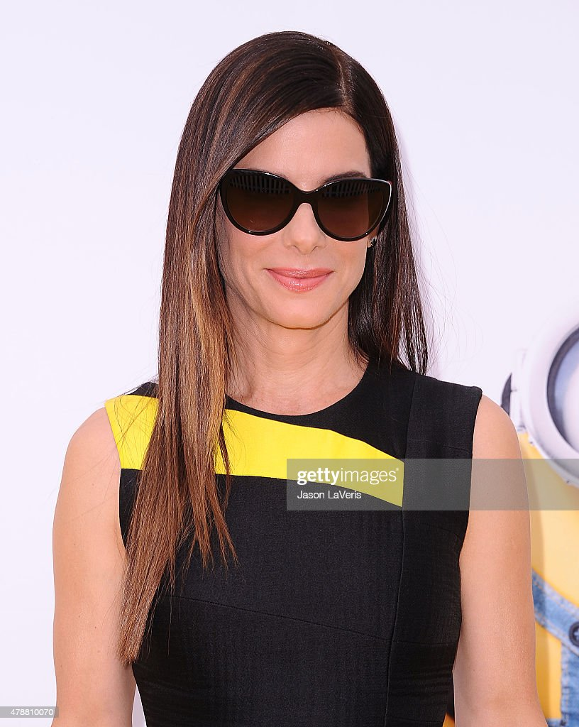 Actress Sandra Bullock attends the premiere of 'Minions' at The Shrine Auditorium on June 27, 2015 in Los Angeles, California.