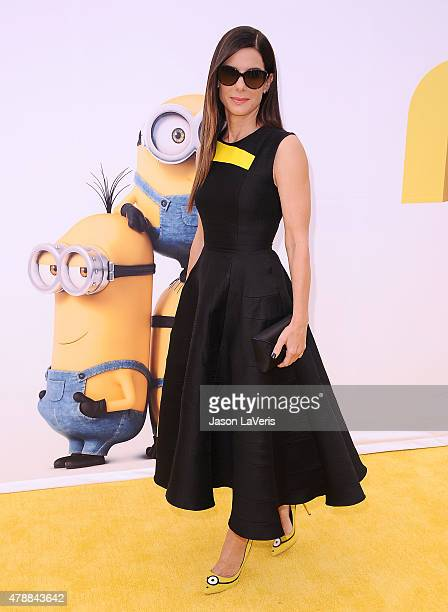 Actress Sandra Bullock attends the premiere of 'Minions' at The Shrine Auditorium on June 27 2015 in Los Angeles California