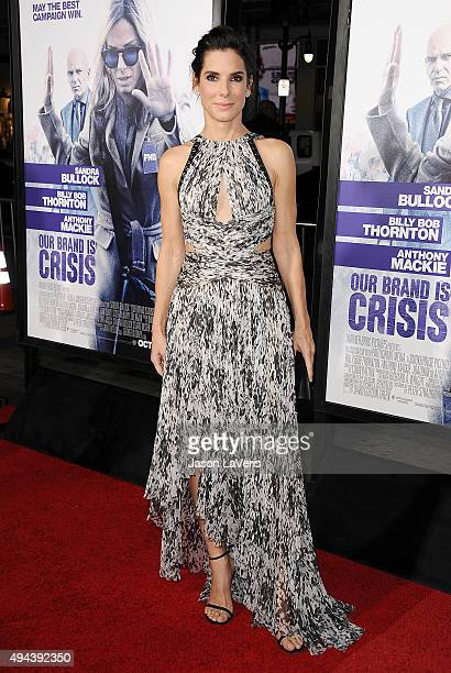 Actress Sandra Bullock attends the premiere of 'Our Brand Is Crisis' at TCL Chinese Theatre on October 26 2015 in Hollywood California