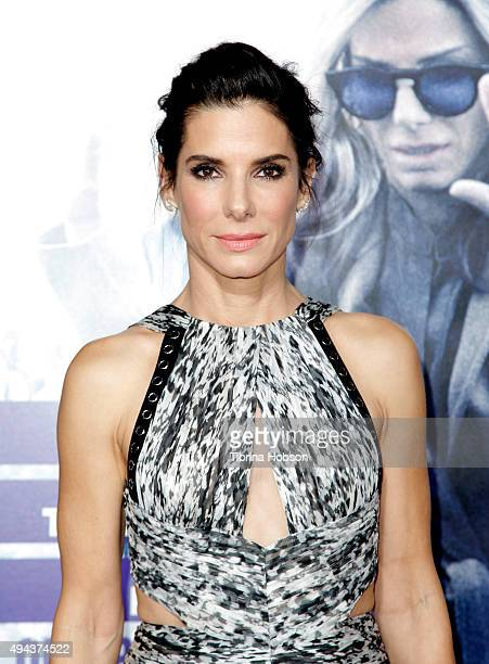 Actress Sandra Bullock attends the premiere of Warner Bros Pictures' 'Our Brand Is Crisis' at TCL Chinese Theatre on October 26 2015 in Hollywood...