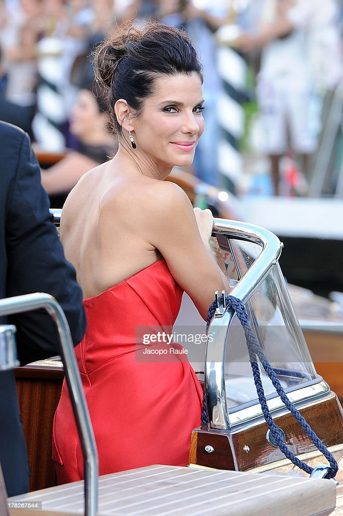 Actress <a gi-track='captionPersonalityLinkClicked' href=/galleries/search?phrase=Sandra+Bullock&family=editorial&specificpeople=202248 ng-click='$event.stopPropagation()'>Sandra Bullock</a> is seen during the 70th Venice International Film Festival on August 28, 2013 in Venice, Italy.