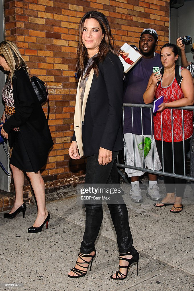 Actress <a gi-track='captionPersonalityLinkClicked' href=/galleries/search?phrase=Sandra+Bullock&family=editorial&specificpeople=202248 ng-click='$event.stopPropagation()'>Sandra Bullock</a> is seen on October 2, 2013 in New York City.
