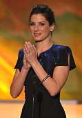 Actress Sandra Bullock onstage at the TNT/TBS broadcast of the 16th Annual Screen Actors Guild Awards held at the Shrine Auditorium on January 23...
