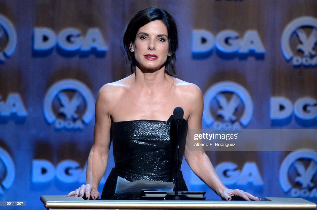 Actress Sandra Bullock speaks onstage at the 66th Annual Directors Guild Of America Awards held at the Hyatt Regency Century Plaza on January 25 2014...