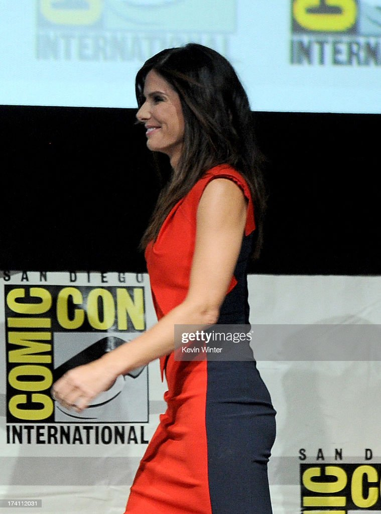 Actress Sandra Bullock speaks onstage at the Warner Bros. and Legendary Pictures preview of 'Gravity' during Comic-Con International 2013 at San Diego Convention Center on July 20, 2013 in San Diego, California.