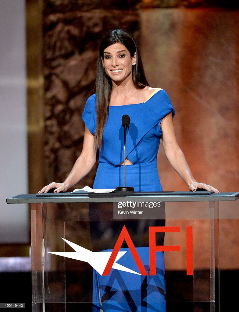 Actress Sandra Bullock speaks onstage during the 2014 AFI Life Achievement Award: A Tribute to Jane Fonda at the Dolby Theatre on June 5, 2014 in Hollywood, California. Tribute show airing Saturday, June 14, 2014 at 9pm ET/PT on TNT.