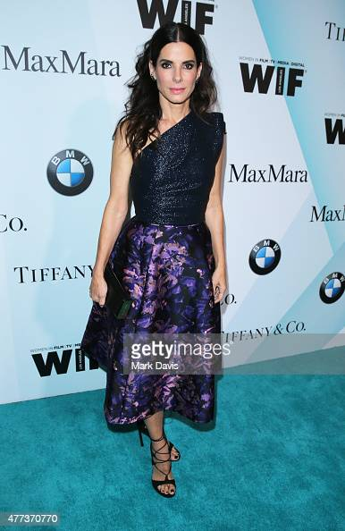 Actress Sandra Bullock wearing Tiffany Co attends the Women In Film 2015 Crystal Lucy Awards Presented by Max Mara BMW of North America and Tiffany...