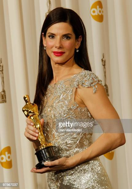 Actress Sandra Bullock winner for Best Actress for 'The Blind Side' poses in the press room at the 82nd Annual Academy Awards held at the Kodak...