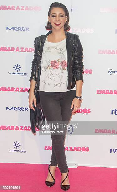 Actress Sandra Cervera attends 'Embarazados' premiere at Capitol cinema on January 27 2016 in Madrid Spain