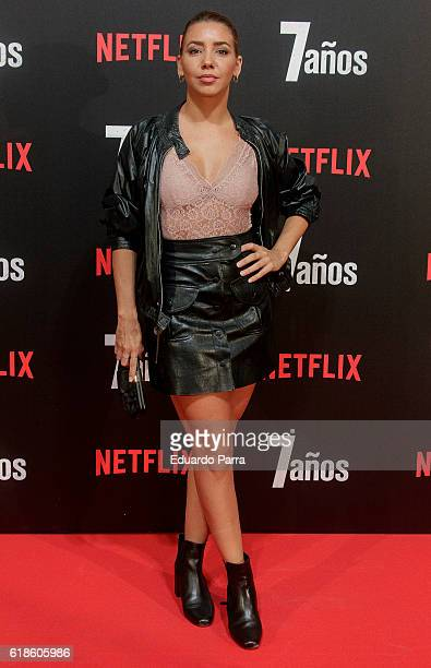 Actress Sandra Cervera attends the '7 anos' photocall at Capitol cinema on October 27 2016 in Madrid Spain
