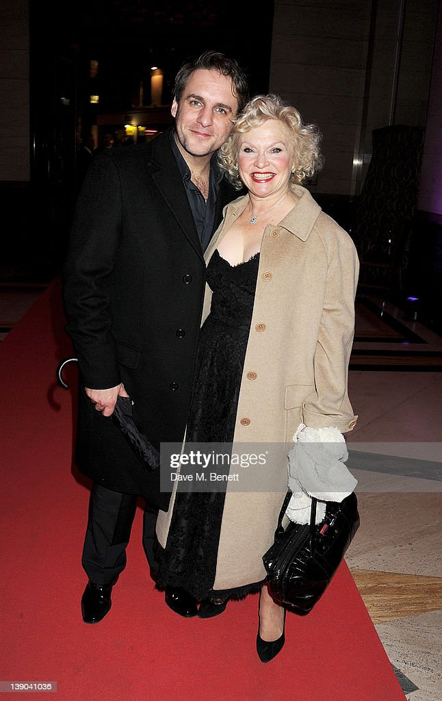 Actress Sandra Dickinson (R) and husband Mark Osmond attend an after party celebrating the press night performance of 'Singing In The Rain' at Freemasons Hall on February 15, 2012 in London, England.